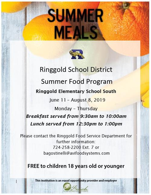 RSD Summer Food Program