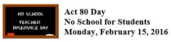 Act 80 Day