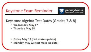 Keystone Test Dates